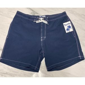 NWT! Men's Trunks Marine Blue Swim Trunks XL